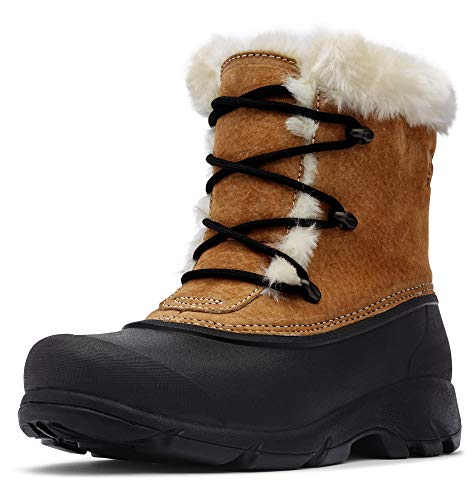 Sorel – Women's Snow Angel Waterproof Insulated Boot with Faux Fur Cuff, Rootbeer, 7 M US