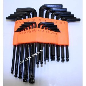 New 25pc SAE METRIC Ball Hex Key Allen Wrench Set Tools by Pit Bull [並行輸入品] B078XL969L