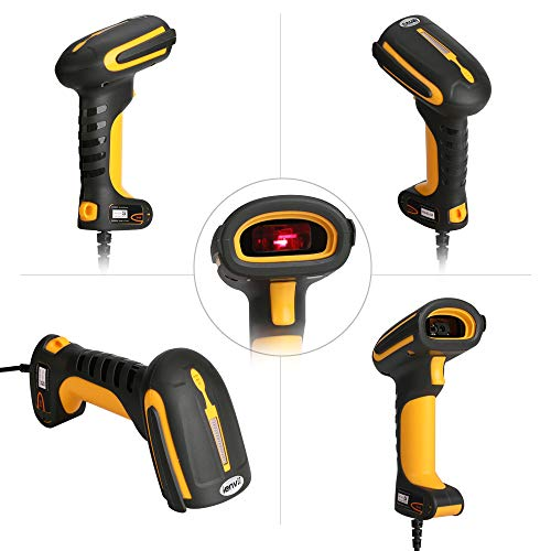 LENVII 2D Barcode Scanner HD Industrial I200 QR-Code High Density