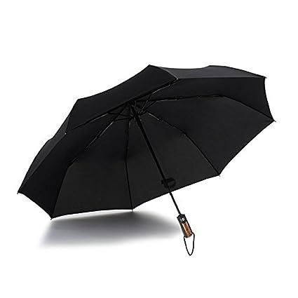 Paraguas plegable automatico Mujer niño Hombre an- Paraguas automático súper Grande de Tres Pliegues de
