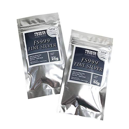 Cool Tools - FS999 Fine Silver Clay - 50 Gram - New Improved Formula