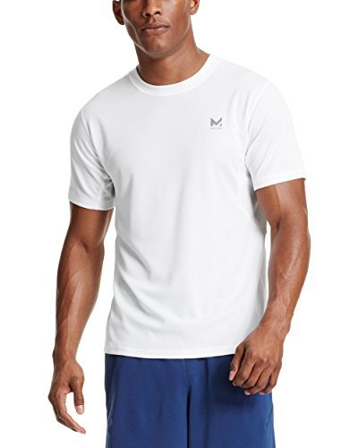 Mission Mens VaporActive Alpha Short Sleeve Athletic Shirt, Bright White, Large