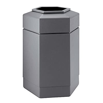 PolyTec 30 Gallon Hex Waste Container Color: Gray