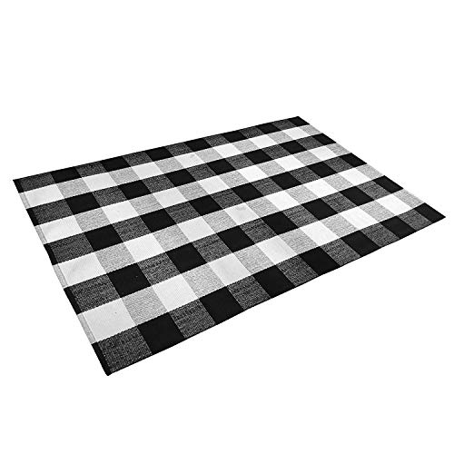 Amazon Com Ustide 100 Cotton Black White Buffalo Check