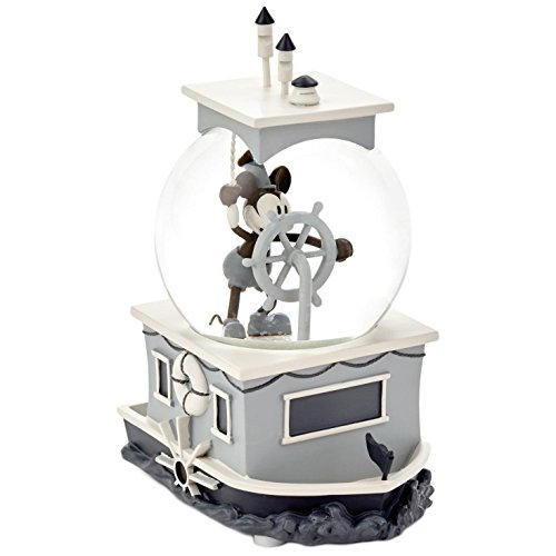 Mickey Mouse Snowglobe - Hallmark Markering Corporation Mickey Mouse Steamboat Willie Special-Edition Musical Water Globe