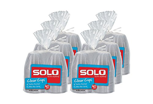 Solo Clear Plastic Cups, 240 Count