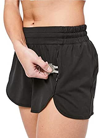 Lululemon Power Stride Short (10) Black at Amazon Women's