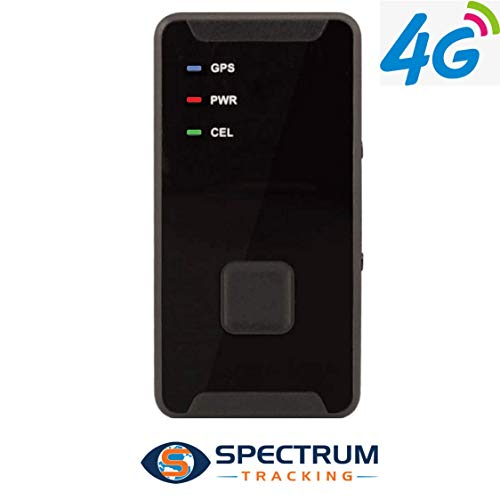 Spectrum Tracking 4G LTE  Personal GPS Tracker -- with SOS Button -Location Tracking Device - Mini Portable GPS Tracker for Kids, Teenagers, Seniors, Vehicles, Motorcycles and more