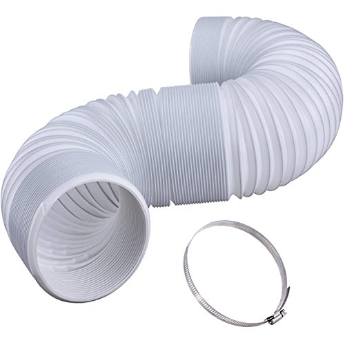 Roberts Roost Extra Long 5 INCH CLOCKWISE Exhaust Hose 80 INCHES Long with CLAMP for Portable AIR Conditioner⭐Premium Quality⭐(CLOCKWISE) ()