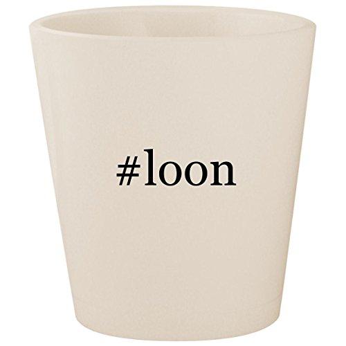 #loon - White Hashtag Ceramic 1.5oz Shot -