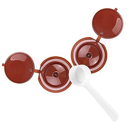 ketobk LemonBest 2pcs Dolce Gusto cápsulas de café cápsula de plástico rellenable reutilizable Compatible con todos
