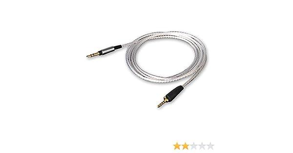 OKCSC EXDSR Cable de Repuesto para Auriculares de Estudio 2,5 mm a 3,5 mm, para Sennheiser Urbanite XL Color Plateado