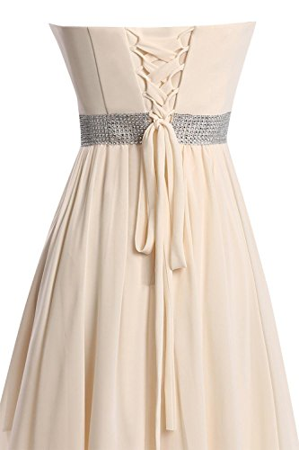 Burgund Champagne Party High Kleider Brautjungferkleider Damen Wedding Fanciest Low Kurz qWFBH87wzU