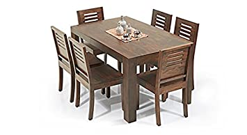 3d311bde2c77a Image Unavailable. Image not available for. Colour  Urban Ladder Arabia - Capra  6 Seater Dining Table Set ...