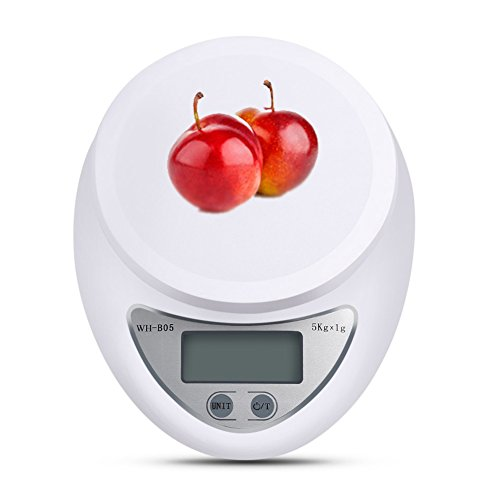 Neaer 5000g/1g Electronic Kitchen Scale High-precision Multifunctional Digital Kitchen Food Scale, White