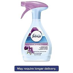 Fabric Refresher & Odor Eliminator, Spring/renewal, 27oz Spray Bottle, 6/carton