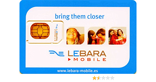 Amazon Com Lebara Spain Sim Card Preloaded With 10 Euro Of Call Credit Electronics