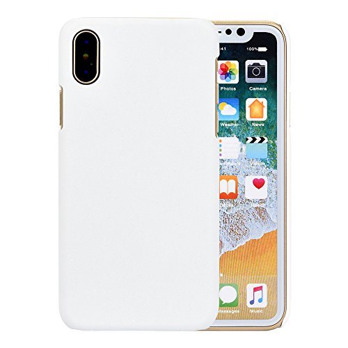 Price comparison product image Phone Case Cover For Iphone X ,Matoen Ultra-thin Luxury Hard PC Back Case Cover (For Iphone X, White)