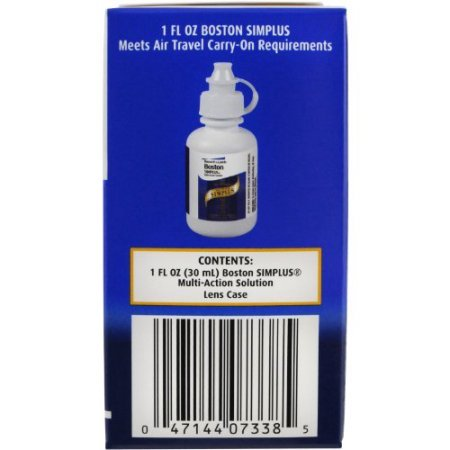 PACK OF 6 - Boston: Simplus Travel Kit Multi-Action Solution, 1 Fl Oz by Generic (Image #3)