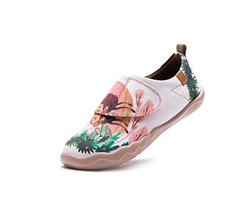 UIN Kid's Dorothy Canvas Fashion Shoe White (Big