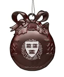 Harvard University - Pewter Christmas Tree Ornament - Burgundy