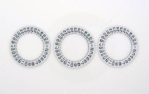 6 Pcs Date Disc for Rolex Submariner 3030-3035 White Part