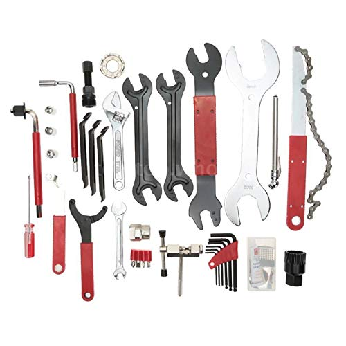 Elikliv 44pcs Bicycle Repair Tools Kit Set Mountain Bike Cycle Puncture Tyre Pump Patchs outdoor tool Bicycle…