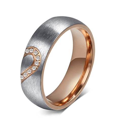 Stainless Valentines Wedding Engagement Promise