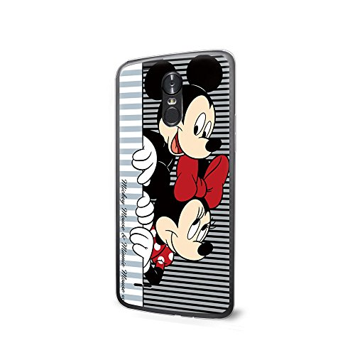(GSPSTORE LG K4 2017 Case Disney Cartoon Mickey Minnie Mouse Hard Plastic Protector Cover For LG K4 2017/LG Phoenix 3/LG Fortune #02)