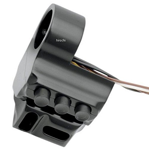 パフォーマンスマシン スイッチハウジング 5ボタン ハイドロ クラッチ側 96年-13年 FLH 黒 PM3083 0062-2043-B B01N91D7RZ