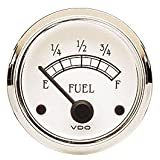 VDO 301733 Cockpit Royale Style Electrical Fuel Gauge 2 1/16 Diameter For Select VDO Senders, 10-180 Ohms by VDO