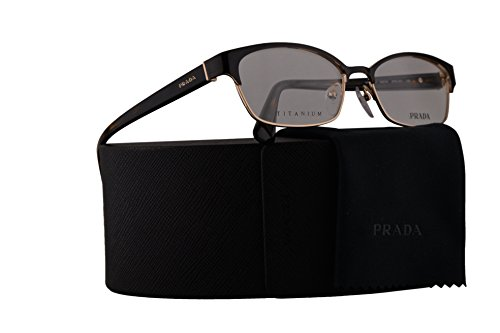 Prada PR53SV Eyeglasses 54-16-140 Top Brown On Pale Gold w/Demo Clear Lens ZVN1O1 VPR53S VPR 53S PR - Prada Sale On Sunglasses