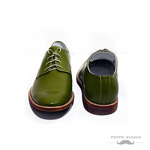 Modello Pontedera - Handmade Colorful italiennes Chaussures en cuir Oxfords Casual Souliers de Formal Prime Unique Vintage Gift Lace Up Robe Hommes