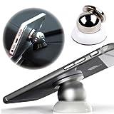LightSeller 360 Degrees Universal Car Mount Sticky Magnetic Stand Holder For iPhone/Samsung Or Other Cellphones (White HL-MINIZJ-L01)