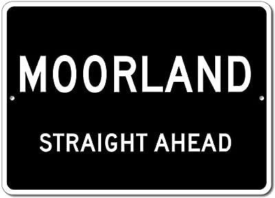 Custom Aluminum Sign - MOORLAND, KENTUCKY US City Straight Ahead Sign