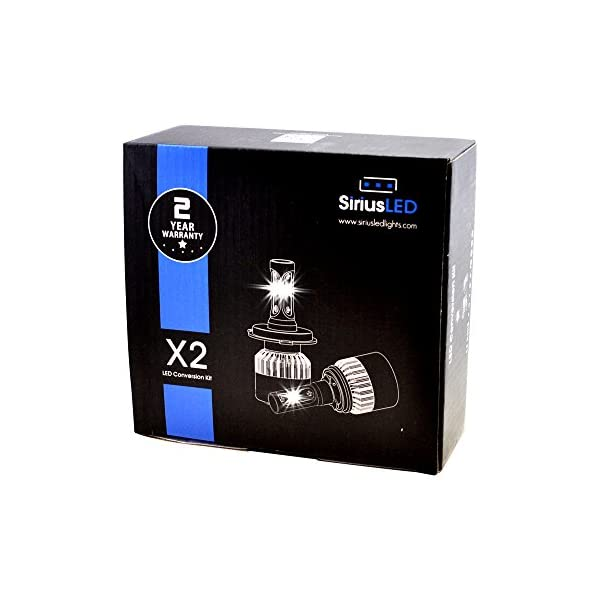 SiriusLED X2 Extremely Bright COB LED Chip 8000 Lumens Headlights Fog Lights Bulb Conversion Kit 9007 HB5 6000K Xenon White