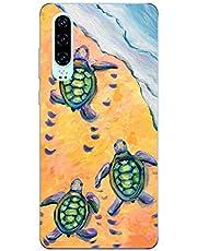 Oihxse Funda para Huawei Nova 4 Transparente, Estuche con Huawei Nova 4 Ultra-Delgado Silicona TPU Suave Protectora Carcasa Océano Animal Serie Bumper (C4)