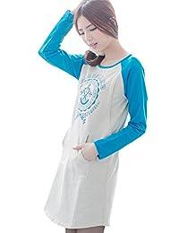 BEARSLAND Maternity Women's Printed Long Sleeves Breastfeeding Shirts Nursing Tops