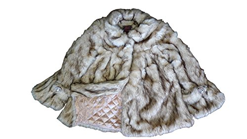 (Lilly Patricia Crystal Fox Faux Fur Coat )