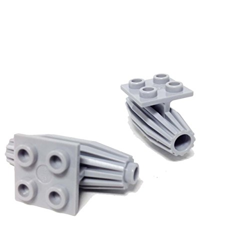 Lego Parts: Engine, Strakes, 2 x 2 Thin Top Plate (Pack of 2 - LBGray) (Engine Rocket F)