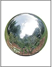 Rome 710-S Silver Stainless Steel Gazing Globe, Polished Stainless Steel, 10-Inch Diameter