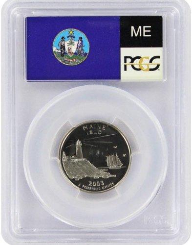 2003 Maine State S Clad Proof Quarter PR-69 PCGS