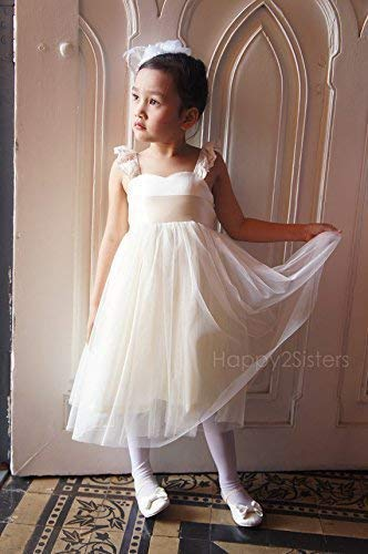 Amazon Com Flower Girl Dress Ivory Rustic Girls Dress Off White