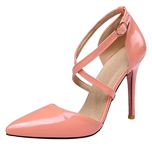 Pink Escarpins Sangle Croisee AicciAizzi Pointue Femmes OHq1P1
