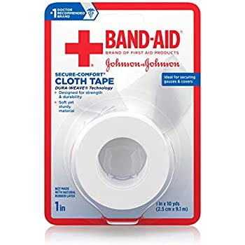 Band-Aid Brand First Aid Products Medical Tough Cloth Tape for Securing Bandages, 1 in by 10 yd