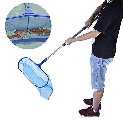 big-time Pool Leaf Skimmer, Detachable Pool Leaf Cleaning Net Skimmer Telescopic Pole Leaf Rake Skimmer Cleaning Tool Spa Koi Fish Pond