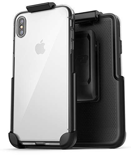 Encased Clear Back Case w/Belt Clip Holster - Designed for Apple iPhone Xs MAX (2018)