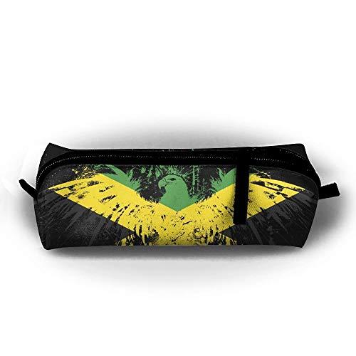 Pencil Case Jamaica Eagle Fashion Student Pen Holder Makeup Bag Zipper Pouch