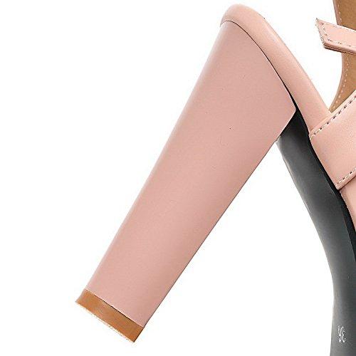 Sandalias De Cuero Imitación De Tacón Alto Balamasa Niñas Cruz Tejer Rosa