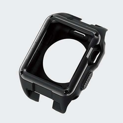 ELECOM, ZEROSOCK, for Apple Watch case for Series 3 [42mm] / Apple Watch Series 2 [42mm], Shock Absorption Structure, TPU for Shock Resistance, Convex Shaped Frame, Black, ()